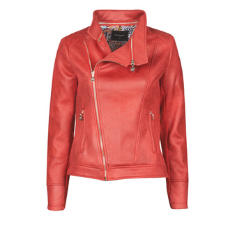 material Women Leather jackets / Imitation leather Desigual MARBLE Red