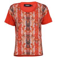 material Women short-sleeved t-shirts Desigual LOMBOK Multicolour