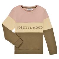 material Girl sweaters Name it NKFLIBEL LS SWEAT Beige / Pink / Kaki