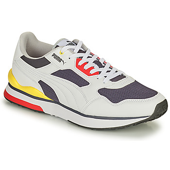 Shoes Men Low top trainers Puma FUTURE White / Yellow / Red