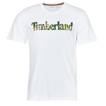 material Men short-sleeved t-shirts Timberland SS FT LINEAR TEE White