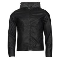 material Men Leather jackets / Imitation leather Jack & Jones JCOWILLY Black