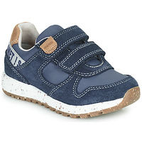 Shoes Boy Low top trainers Geox B ALBEN Blue