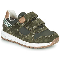 Shoes Boy Low top trainers Geox B ALBEN Green