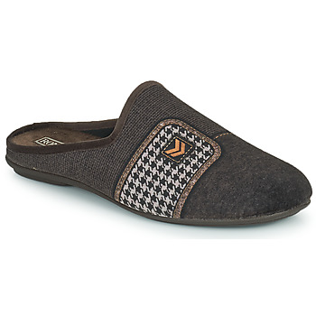 Shoes Men Slippers Rondinaud MAGNY Brown