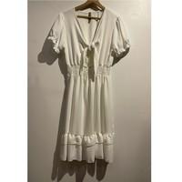 material Women Short Dresses Fashion brands 9176-BLANC White