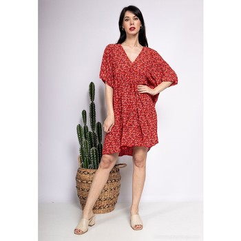 material Women Short Dresses Fashion brands 8888-ROUGE Red