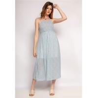 material Women Long Dresses Fashion brands 571-BLEU-CLAIR Blue / Clear