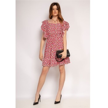 material Women Short Dresses Fashion brands 573-ROUGE Red