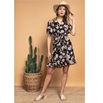 material Women Short Dresses Fashion brands 2145A-NOIR Black