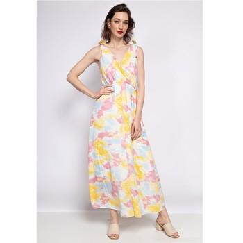 material Women Short Dresses Fashion brands R185-JAUNE Yellow