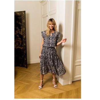 material Women Blouses Fashion brands CK08138-MARINE Marine