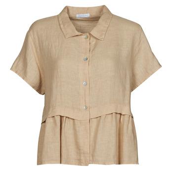 material Women Blouses Fashion brands 10998-BEIGE Beige