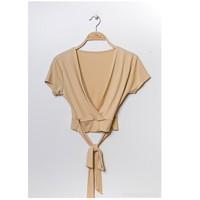 material Women Blouses Fashion brands FR029T-BEIGE Beige