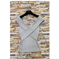 material Women Blouses Fashion brands HS-2874-GRAY Grey