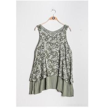 material Women Blouses Fashion brands 9673-KAKI Kaki