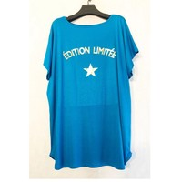 material Women Blouses Fashion brands V132ED-TURQUOISE Turquoise