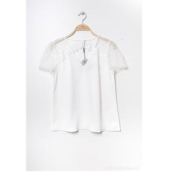 material Women Blouses Fashion brands K5518-WHITE White