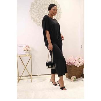 material Women Blouses Fashion brands 9159-BLACK Black