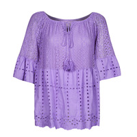 material Women Blouses Fashion brands LL00142-LILAC Violet