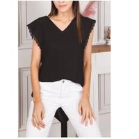 material Women Blouses Fashion brands F2106-BLACK Black