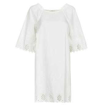 material Women Short Dresses Only ONLLILLO White