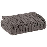 Home Blankets, throws Vivaraise SWAMI Grey / Asphalte