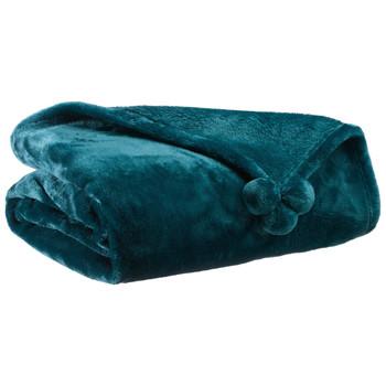 Home Blankets, throws Vivaraise TENDER POMPONS Blue