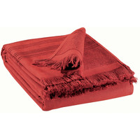 Home Towel and flannel Vivaraise CANCUN Red