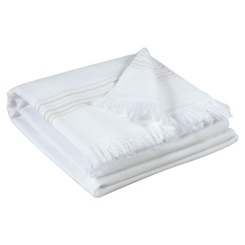 Home Towel and flannel Vivaraise CANCUN White