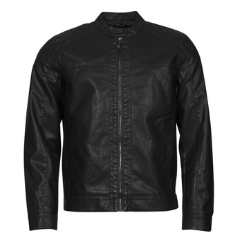 material Men Leather jackets / Imitation leather Only & Sons  ONSMIKE Black