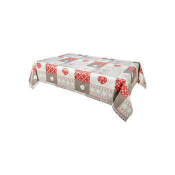 Home Napkin, table cloth, place mats Habitable CHALETS - ROUGE - 140X200 CM Red