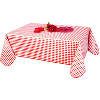 Home Napkin, table cloth, place mats Habitable VICHY - ROUGE - 140X200 CM Red