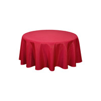 Home Napkin, table cloth, place mats Habitable NORWICH - ROUGE - DIAM 180 CM Red