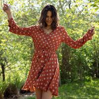 material Women Short Dresses Soi Paris x Spartoo PAPILLES Brown
