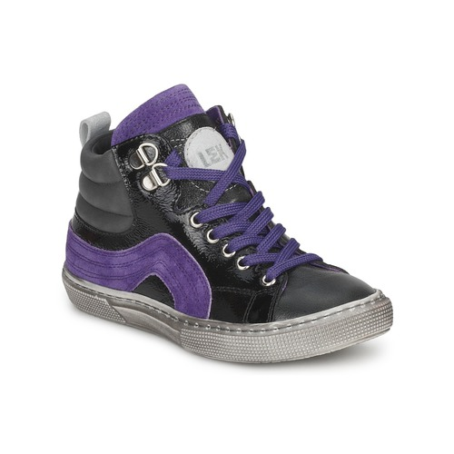 Shoes Boy High top trainers Little Mary OPTIMAL Black / Violet
