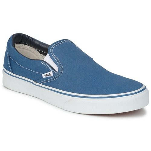 Vans Classic Slip On Navy Fast Delivery Spartoo Europe Shoes Slip Ons 65 00