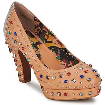 Shoes Women Court shoes Miss L'Fire SHOWGIRL Beige