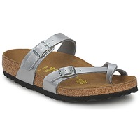 Shoes Women Mules Birkenstock MAYARI Silver
