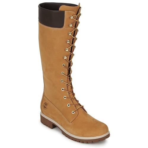 Shoes Women Boots Timberland WOMEN'S PREMIUM 14IN WP BOOT Cognac