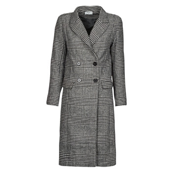material Women coats Betty London PIXIE Black / Grey