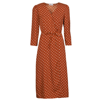 material Women Long Dresses Betty London PAXONE Rust