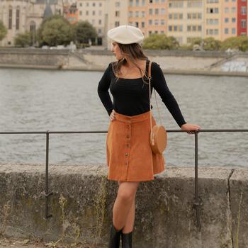 material Women Skirts Céleste NANDINA Rust