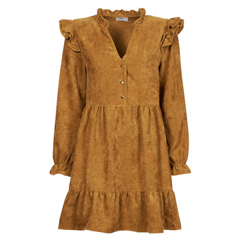 material Women Short Dresses Betty London PINEA Camel