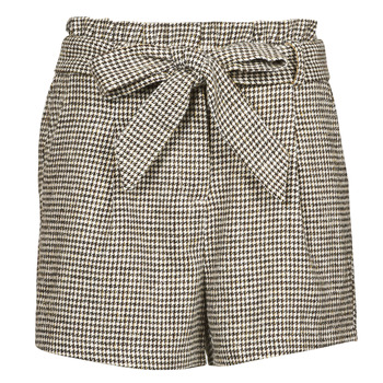 material Women Shorts / Bermudas Betty London PIUBELLA Black / Ecru