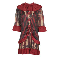 material Women Fancy Dress Fun Costumes COSTUME ADULTE CLOWNETTE DE MINUIT Multicolour