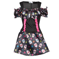 material Women Fancy Dress Fun Costumes COSTUME ADULTE MRS DAY OF THE DEAD Multicolour