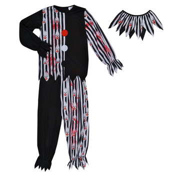 material Boy Fancy Dress Fun Costumes COSTUME ENFANT BLOODY CLOWN Multicolour
