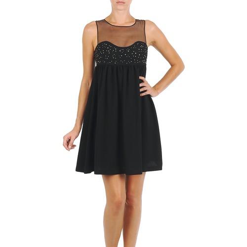 material Women Short Dresses Manoush ROBE ETINCELLE Black