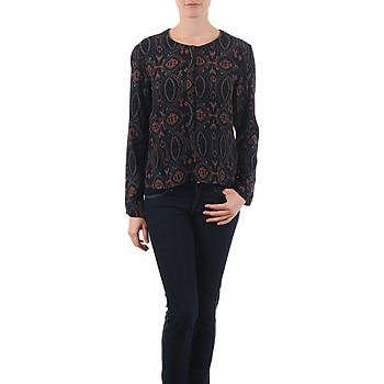 material Women Blouses Antik Batik VEE Black